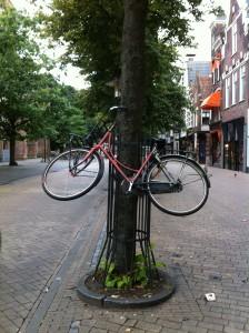 fietsboom 2 voorwiel nog goed