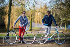 Alexander and Charles with their fixies