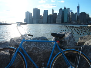 fietsend door manhattan