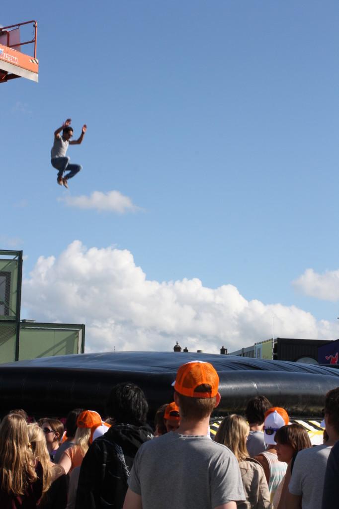 De Action Free Fall op het Open Air festival