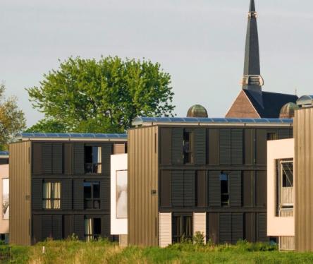 De woningen van Nijestee op het CiBoGa-terrein.