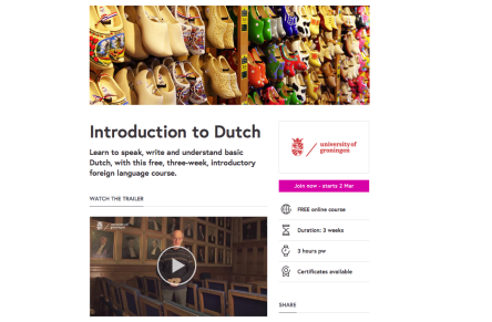 Introduction to Dutch MOOC