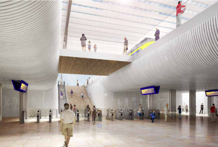Underground pedestrian tunnels are one of the biggest changes proposed for the station.