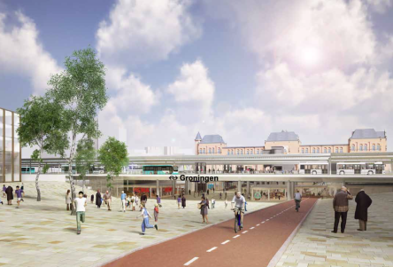 An artistic rendering of how the south side of the station may look following massive construction.