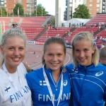 Sofie Lovdal (midden) is een Finse topatlete.